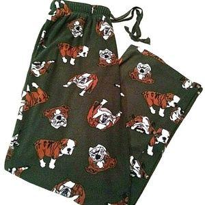 Croft Barrow Mens Pajama Pants Bottoms Bulldogs